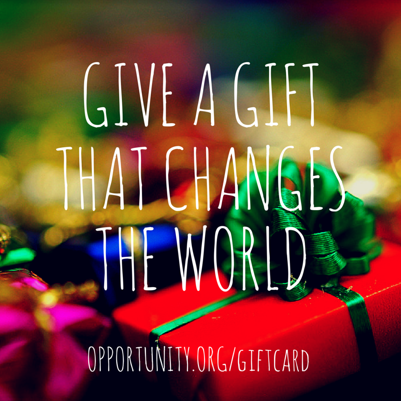 The top 5 reasons to give an Opportunity International gift card this holiday season.