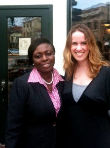 Opportunity Ghana's Vida Marfo (left), with blogger and member of the Board of Governors, Elizabeth Knox.