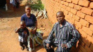 Mary Jackson and her husband Humphreys with their three-year old son in Malawi.