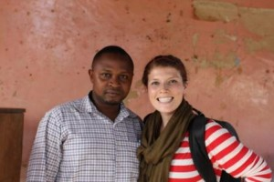 Tanzania loan officer Thomas and Insight Trip correspondent Kelly Flanagan.