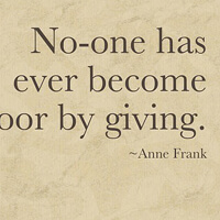 Inspiring quote from Anne Frank.
