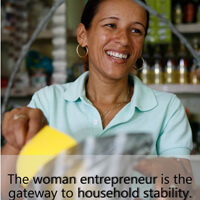 To help an entire the community, start with the women (via Women's World Banking).