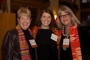 Kelly Flanagan (center) with Board of Governors members Diane Ruebling & Jeanne Lewis.