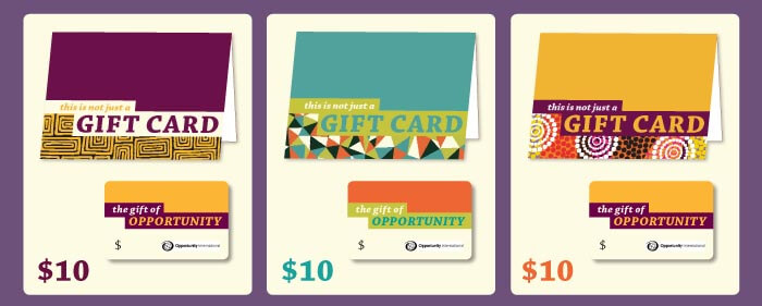 Opportunity Gift Cards starting at $10, available at opportunity.org/giftcard »