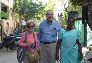 Nancy and Fred McDougal with an Opportunity client in India.