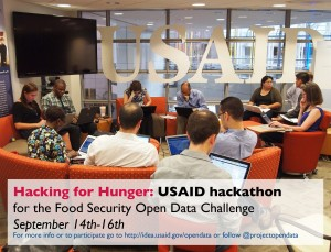 USAID's Hacking for Hunger hackathon in September.