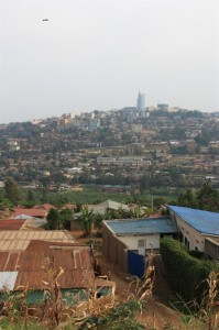 Picture of Kigali's downtown from the Genocide Museum.