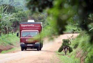 Mobile bank in Uganda. (Credit: Oliver Krato)