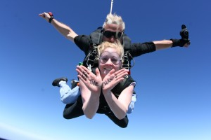 In February, young professional Sarah jumped out of a plane for our clients in Tanzania.