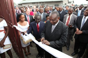 Vice Governor of Central Bank of Congo at Opportunity DRC's ribbon-cutting.
