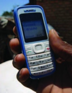A typical cell phone used for banking in the developing world.