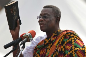 President John Atta Mills during his 2009 presidential election. (Credit: EPA)