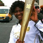 Lydia with the torch.