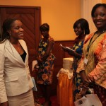 Madame Marie-Josée Ndaya Ilunga (left), Head of microfinance at DRC's Central Bank, with Nadine Pembele.