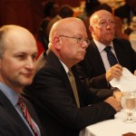 From left: Harry Turner, CEO, Global Microfinance Operations; Ambassador James Entwistle; Keith Flintham.