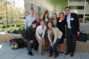Lauren Dillon (front row, right) and her fellow YAO members at the 7th Annual Chicago Microfinance Conference.