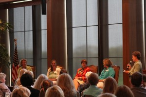 Panel: (from left) Polly McCrea, Krista Carroll, Penny George, Barbara Lupient and moderator Mary Lynn Staley.