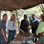 (From left) Roberto, Malin, a loan officer, Opportunity Tanzania COO Ross Nathan, and a loan client.