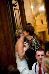 Kristen Doyle with her Grandma on her wedding day in January 2009.