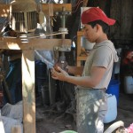 An employee in Francisco and Fidel Aleman's Workshop in Nicaragua