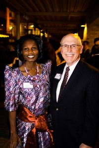 Frida Mungoma, Education Finance Manager, Opportunity Uganda, & Don Whittaker, son of Opportunity founder Al Whittaker.