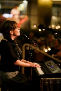 Contemporary Christian musician Sara Groves performs.