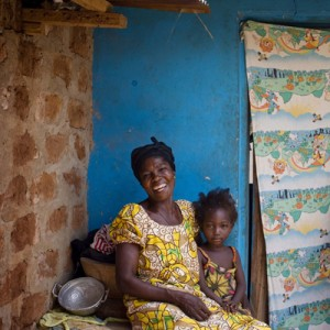 Client Adwoa Kwatemaa used an Opportunity loan to put a new, stronger door and windows on her home in Kumasi, Ghana, so that she and her grandchildren will be safer at night.