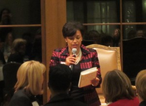 Bonnie St. John addresses attendees at the Interlachen Country Club in Edina.