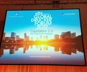 At the 2012 Peter Drucker Forum — Capitalism 2.0 — in Vienna.