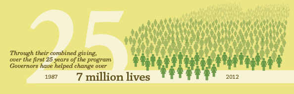In 25 years, the Governors have impacted seven million lives.