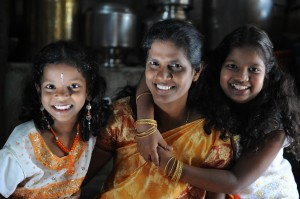 Jayanthi from India and her daughters.