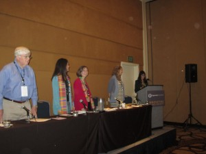 Breakout session panel (from left): Dick Leathers, Monica Perez, Betsy Perdue, Amelia Gingold and Sonya Perez-Lauterbach.