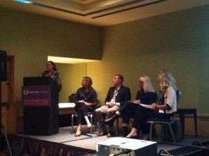Panel (from left): Liesel Pritzker, Amanda Britt, Raan Parton, Krista Treide, and Amy Taylor.