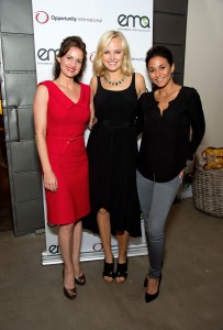 From left: Actresses Carla Gugino, Malin & Emmanuelle Chriqui.