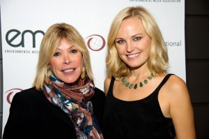 EMA President Debbie Levin (left) and Malin Akerman.