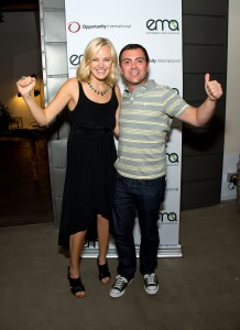Malin and actor Joe Truglio.