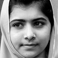 Malala Yousafzai was shot by the Taliban on 10/9 because of her work promoting girls' education and children's rights. The UN pinned this image to show their support for her work and her recovery.