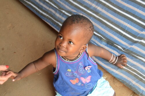 The child of a client in Kampala, Uganda.