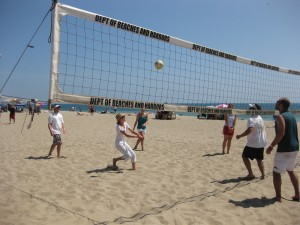 Returning a point at volleyball with YAO - LA.