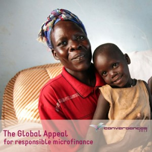 The Global Appeal for Responsible Microfinance protects clients like Betty Aute of Uganda, pictured here with her daughter. (Photo credit: Oliver Krato)