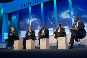 The Future of Food panel at the final plenary session of CGI. (Flickr: Clinton Global Initiative)