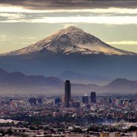 Mexico City skyline.