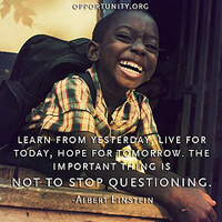 Lifelong learning, from Albert Einstein.