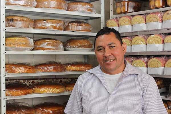 Jose at his bakery