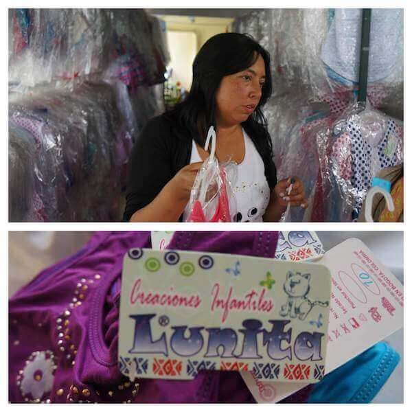 Luz, owner of Lunita, a clothing manufacturer